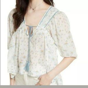 Free people Daisy print blouse Sz- M